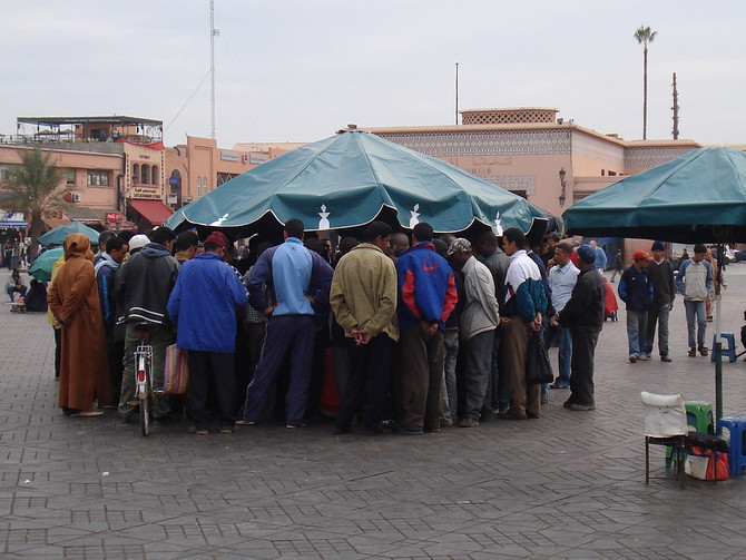 Djemaa el-Fna crowd