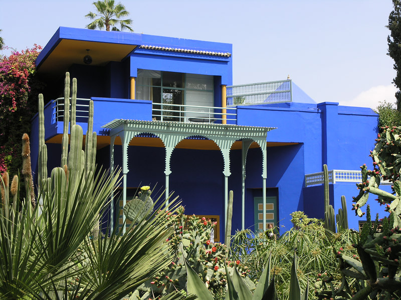 Jardin Majorelle, formerly the residence of a French painter -- now owned by Yves Saint Laurent.