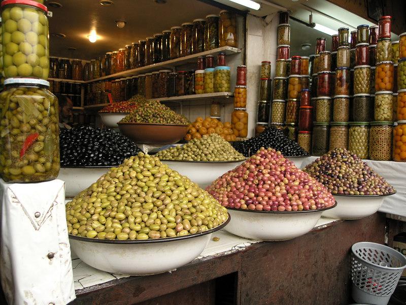 Olive vendor in the souk.