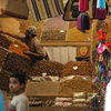 Dried fruits and nuts vendor in the souk.