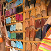 Shoes/slippers in the souk.
