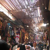 Welcome to the souks.  Souks are a group of shops selling similar goods -- e.g., the spice souk, leather souk, lamp souk, carpet souk, etc.