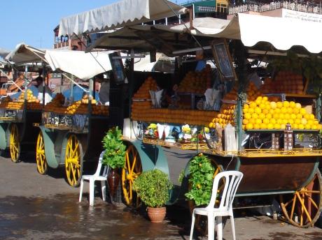 Djemaa el-Fna orange juice stands