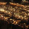 Food stalls at Djemma el Fna.