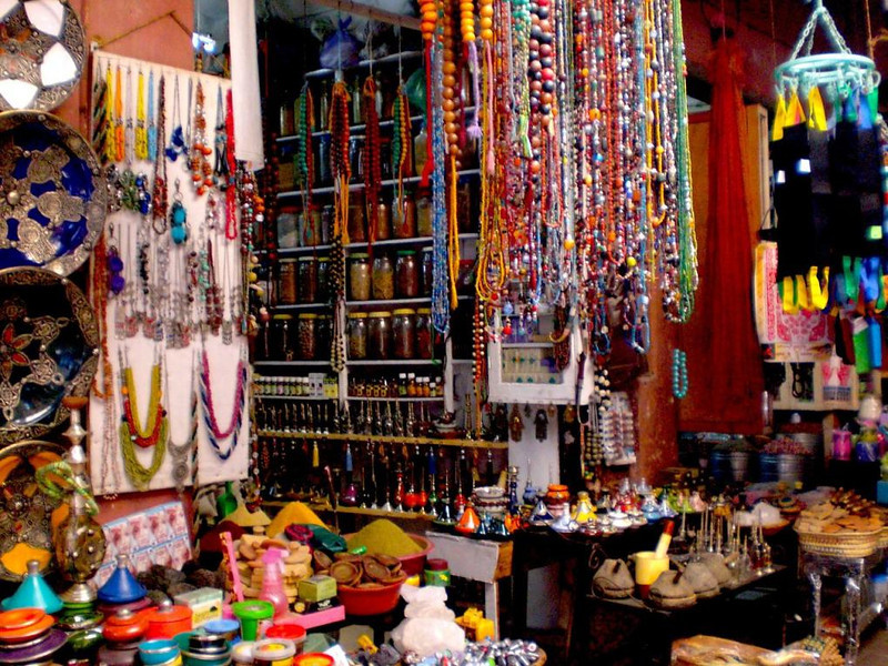 A shop in Marrakesh.