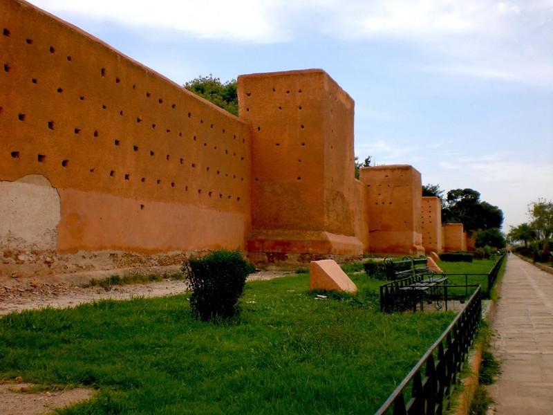 The medina walls of Marrakesh.