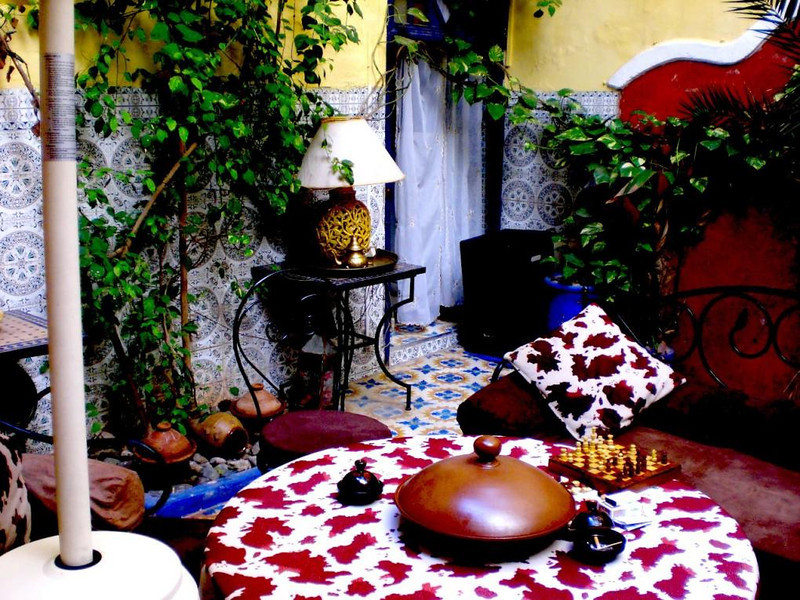 Inside the Riad Ghallia Guesthouse in Marrakesh.