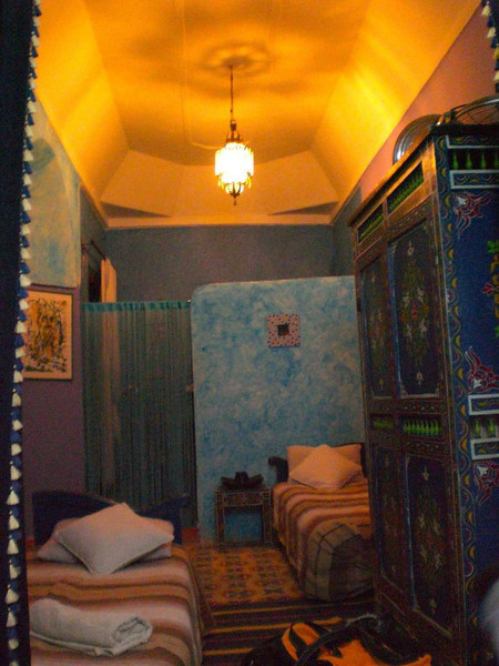 A room inside the Riad Ghallia Guesthouse in Marrakesh.