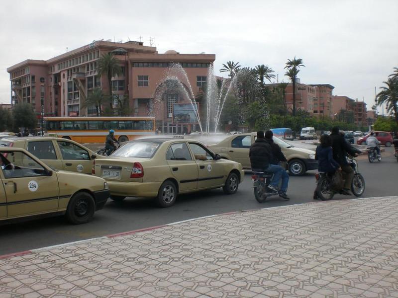 Traffic in Marrakesh.