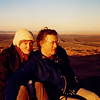 Kent and Anne watching the sunrise