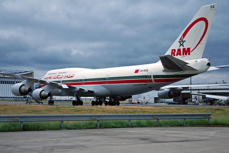 CN-RGA Boeing 747-428 c/n 25629 Paris-Charles de Gaulle/LFPG/CDG14-06-97 (35mm slide)