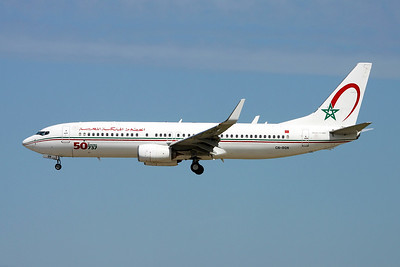 "CN-RGN Boeing 737-8B6 c/n 33075 Paris-Orly/LFPO/ORY 11-06-17 ""50th Boeing 737"""
