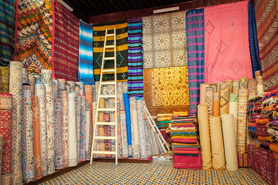 Textile shop in Tetouan, Morocco