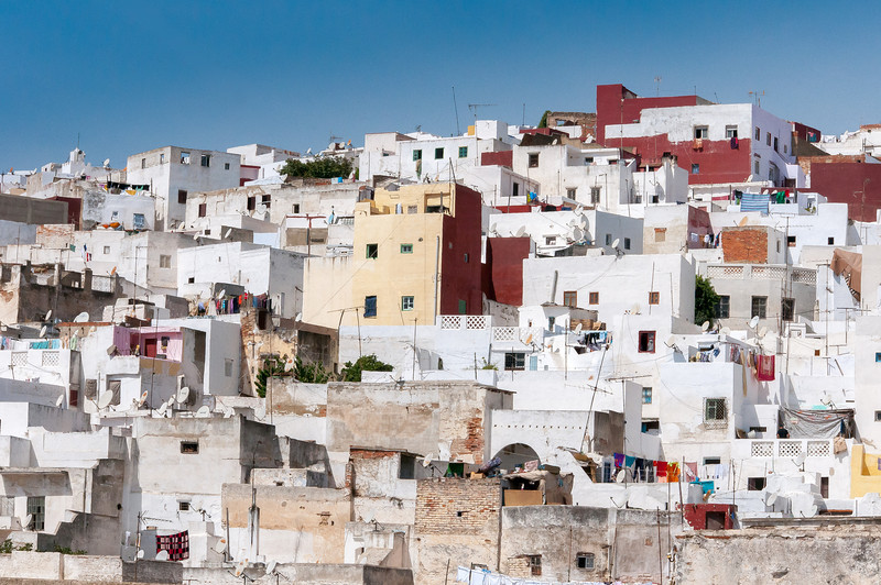 Buildings and houses in Tetouan, Morocco