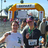 At the finish line with Mariel after my toughest marathon ever - but I finished!