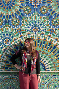 Amanda at Hassan II Mosque