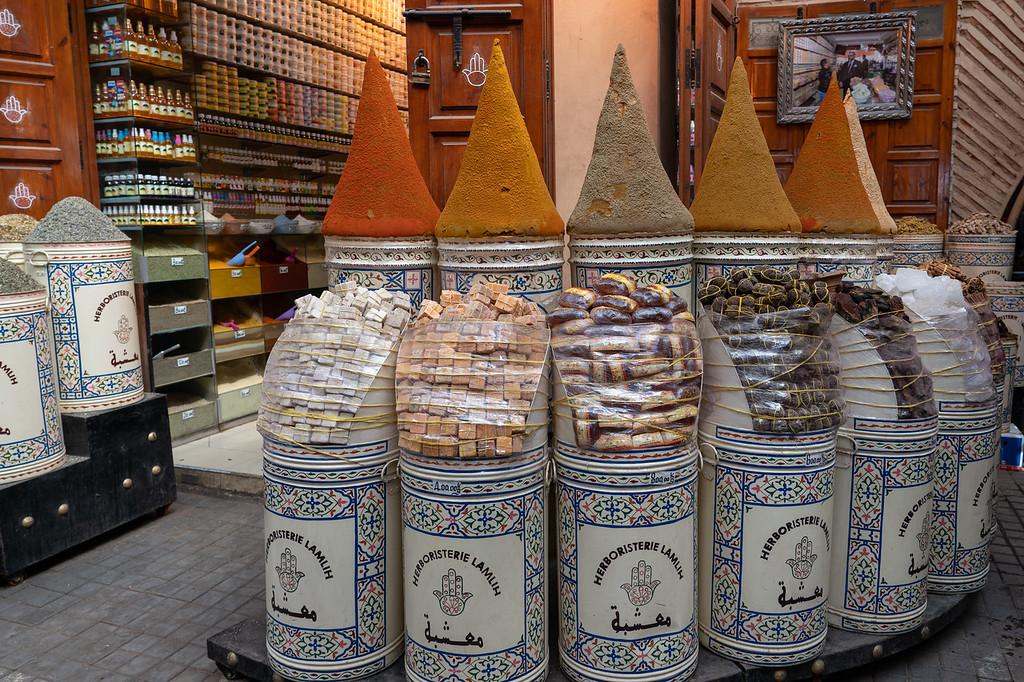 Spices in the Marrakech medina