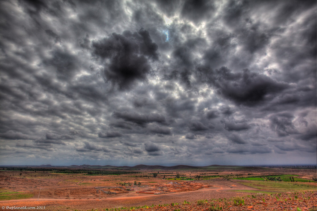 The dramatic skies over the Atlas Mountains, Morocco