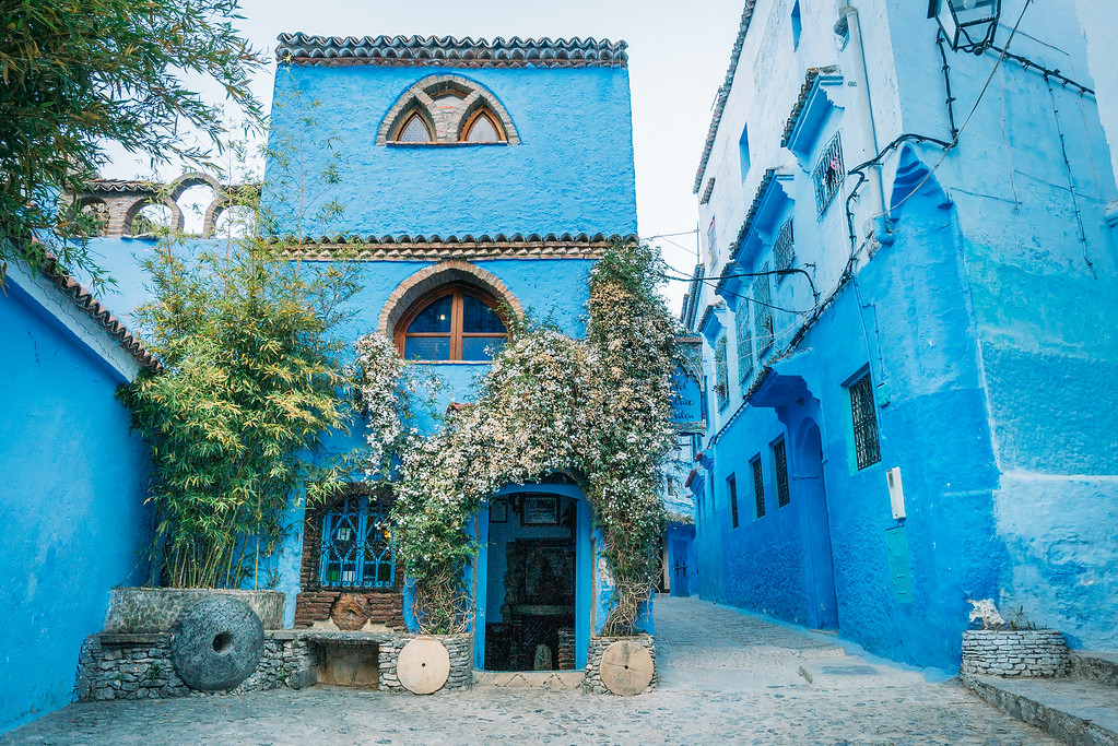 Chefchaouen Blue Buildings  Mysterious Chefchaouen: The Blue Pearl Of Morocco chefchaouen city medina XL