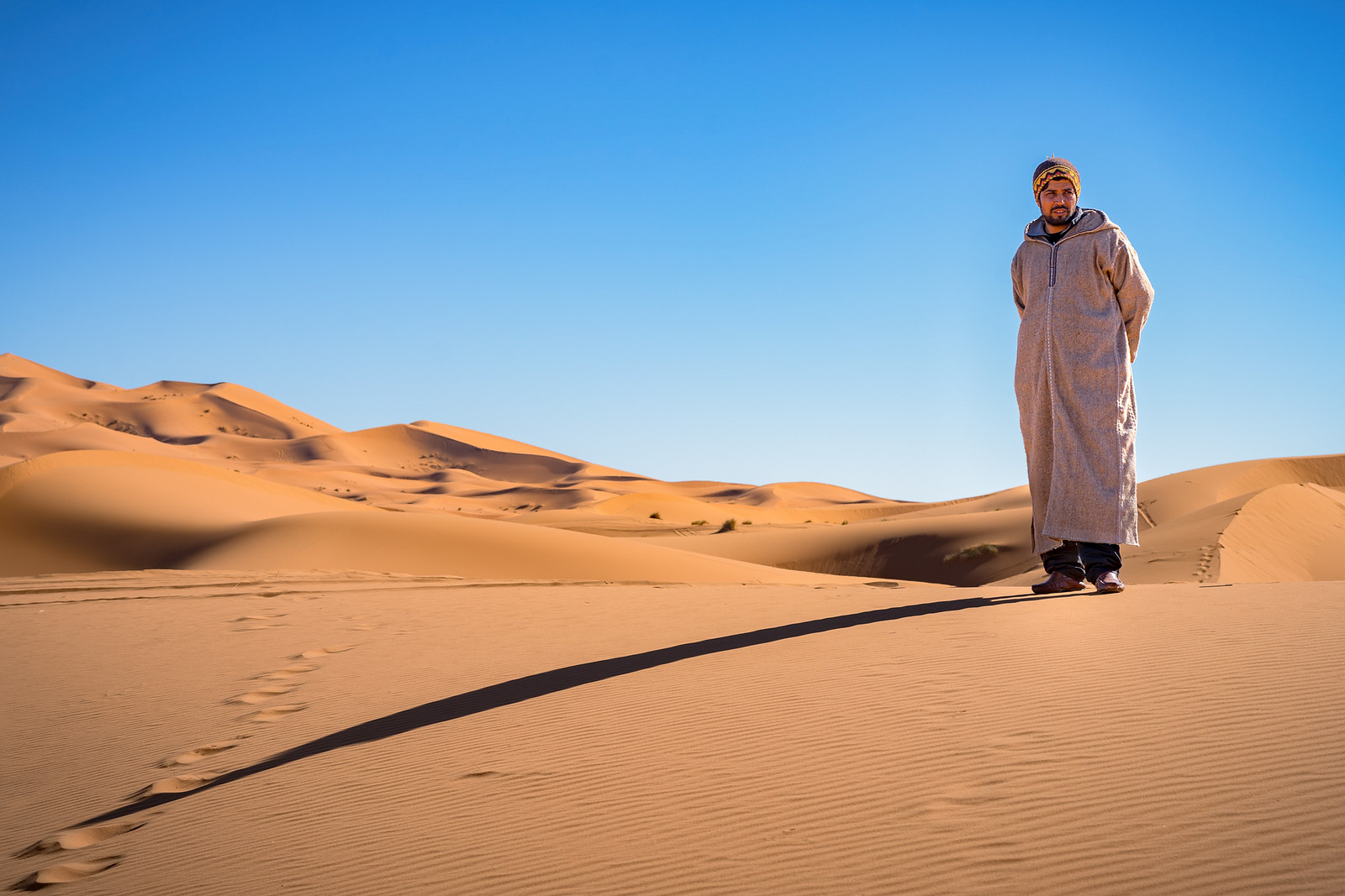 Moroccan guide with Open Doors Morocco in the Sahara Desert - Photography workshop with Intentionally Lost and Kevin Wenning #intentionallylost