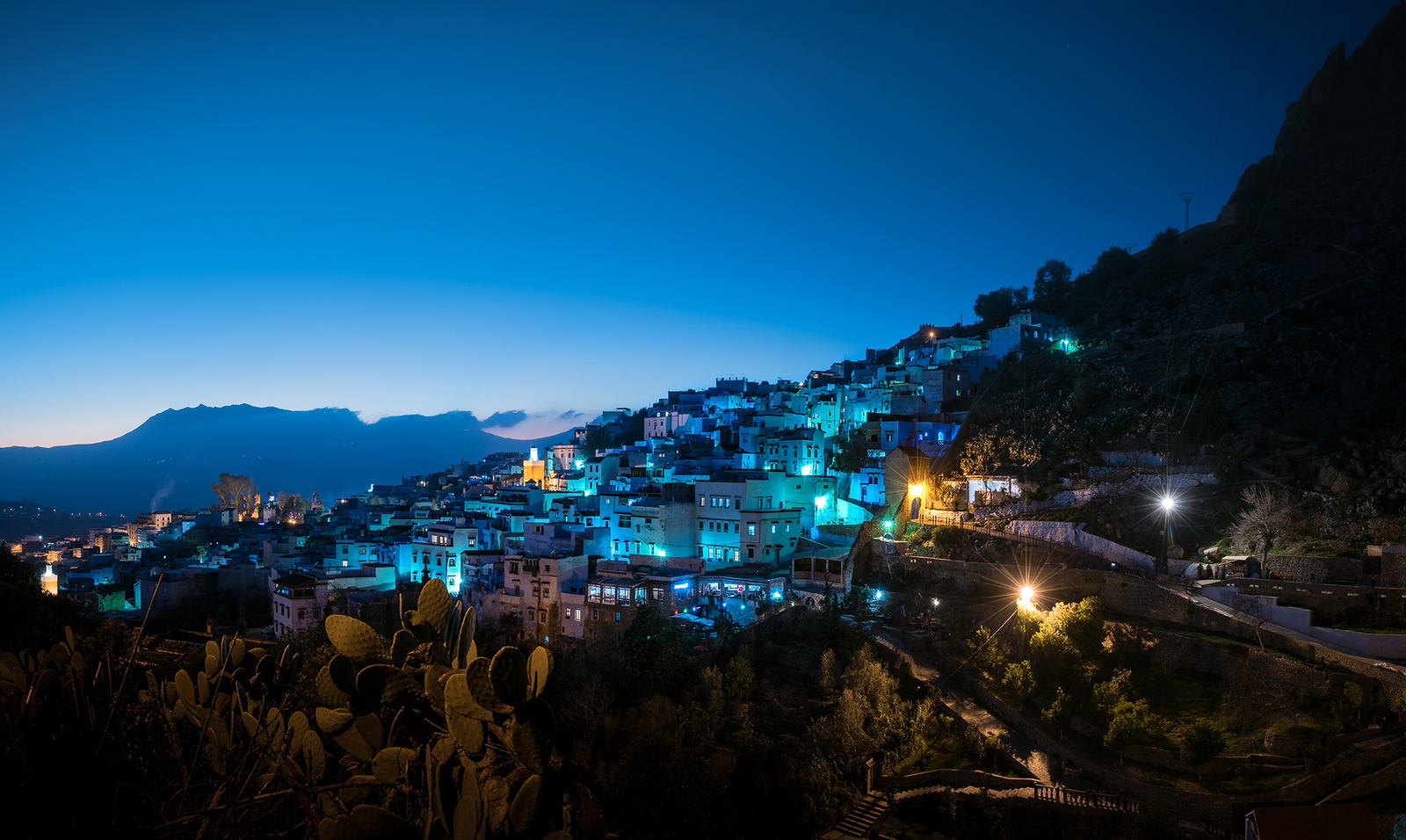 Chefchaouen Morocco at Night - cycling vacation and photography tour with Kevin Wenning