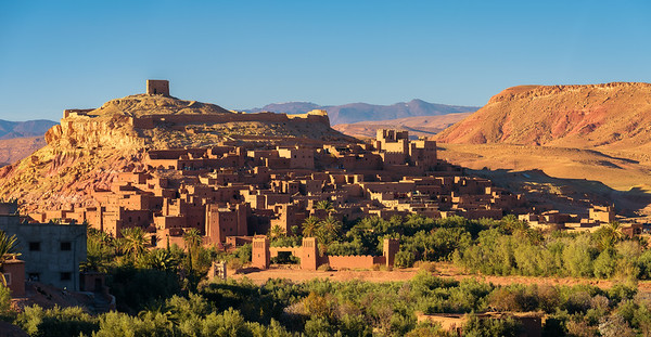 Ait Benhaddou in Morocco at sunset
