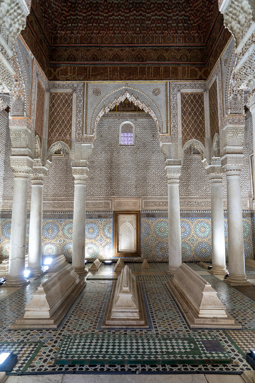 The Hall of Twelve Columns at the Saadian Tombs