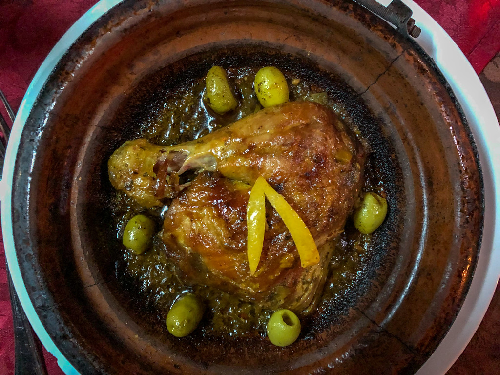 Chicken tagine in Morocco