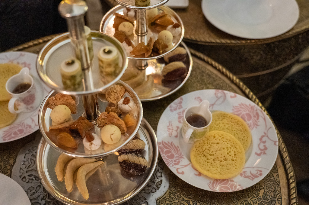 Moroccan tea at the Royal Mansour
