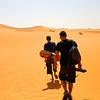 Sahara sand boarding