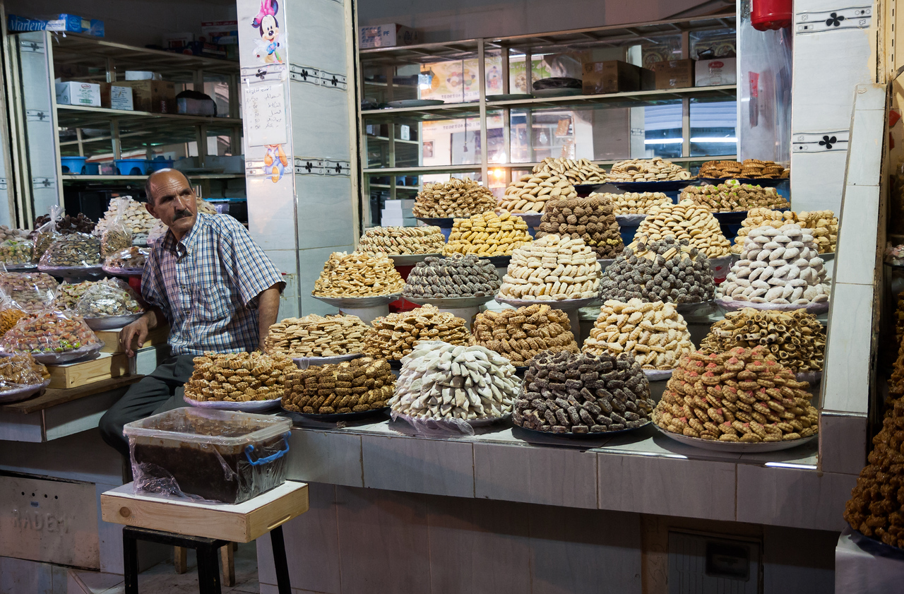 A medina confectionary stall.<br /> <br /> Location: Meknès, Morocco<br /> <br /> Lens used: Canon 17-55mm f2.8 IS