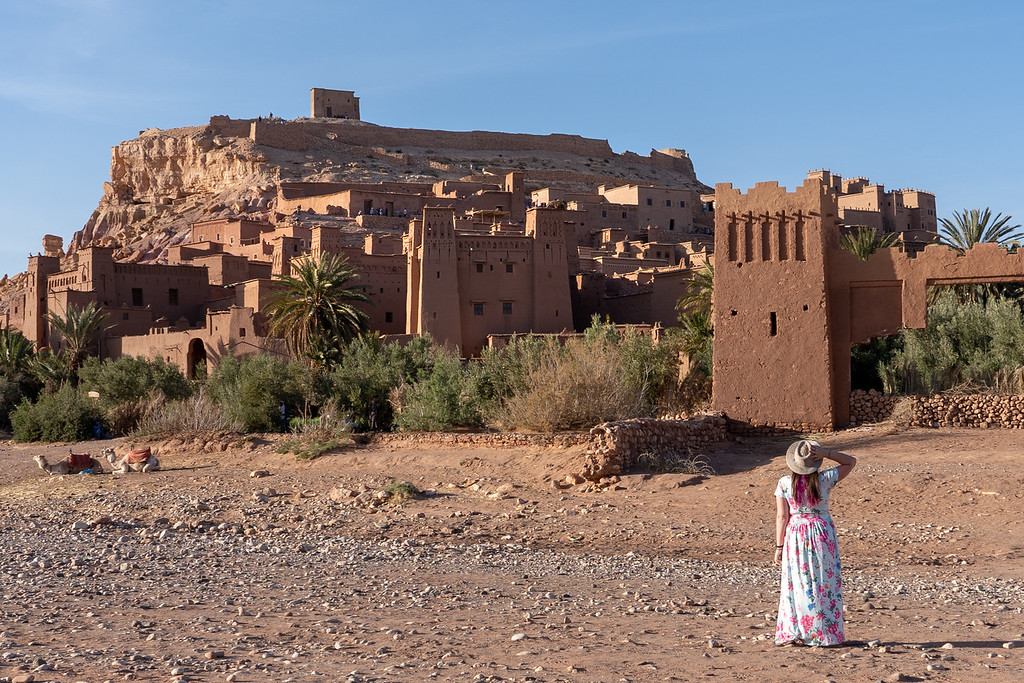 Amanda at Ait Ben Haddou