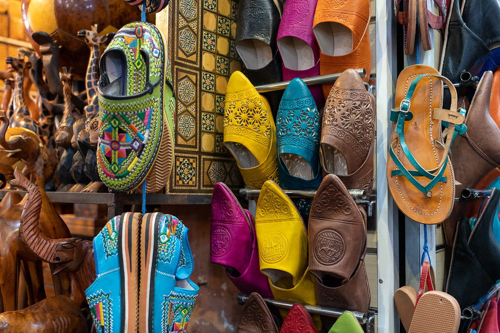 Leather goods in the Marrakech medina
