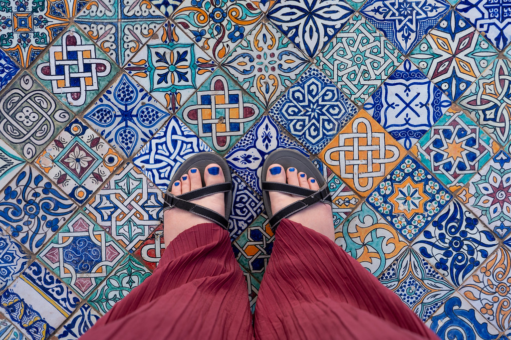 Tiles in Fes, Morocco