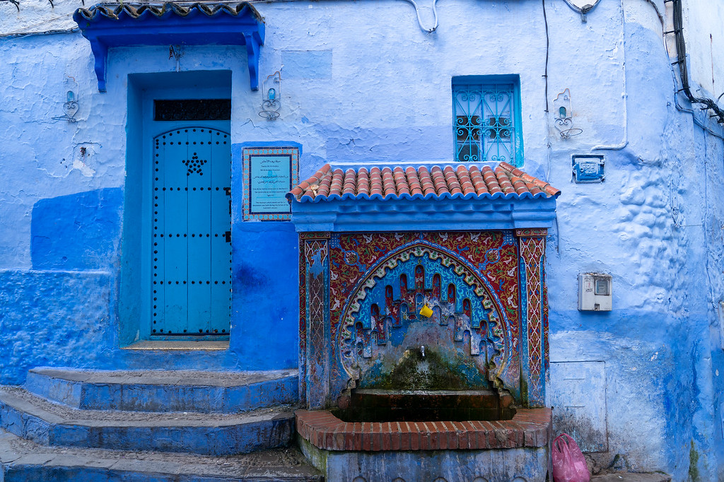 Fountain in Chefchaouen, Morocco