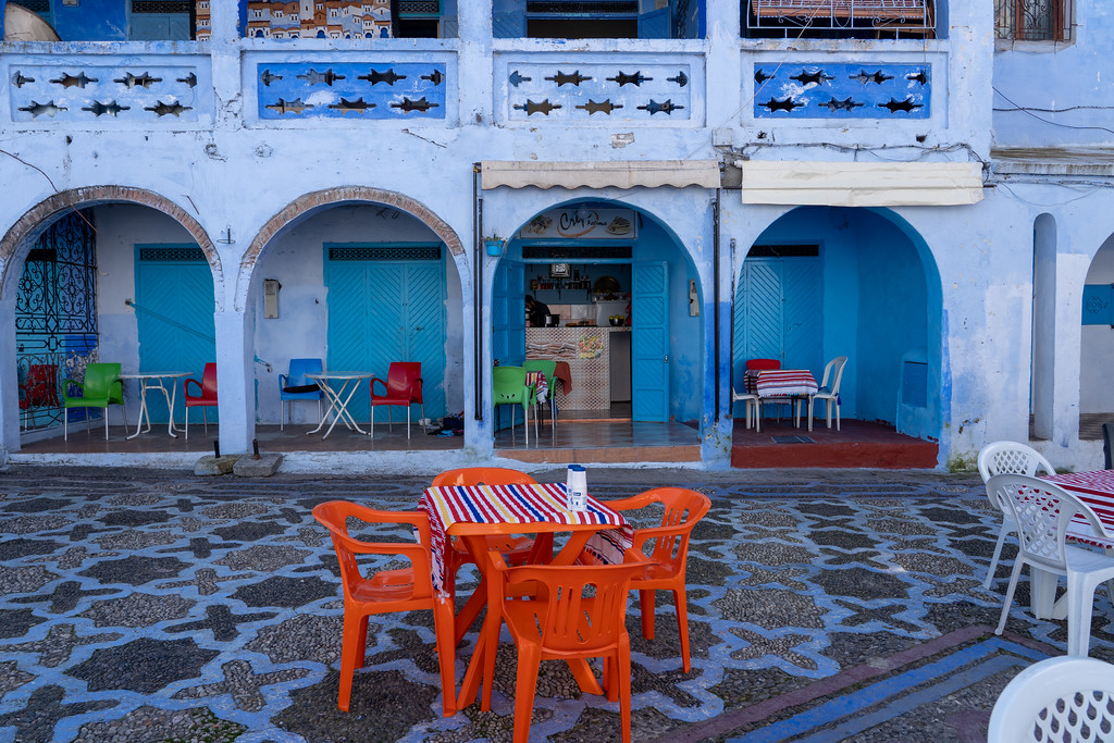 Cafe in Chefchaouen, Morocco