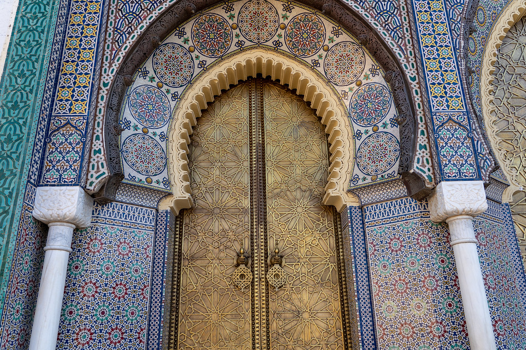 Royal Palace door in Fes