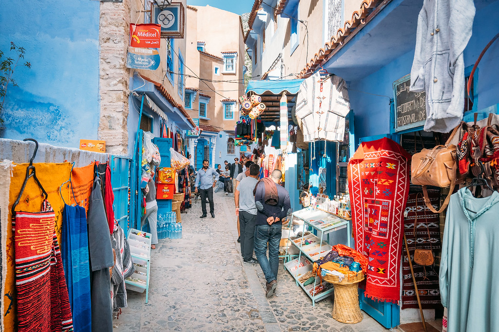 Chefchaouen Shopping  Mysterious Chefchaouen: The Blue Pearl Of Morocco chefchaouen street market XL