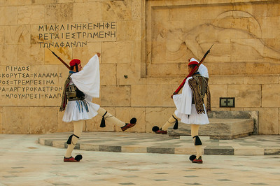 Changing of the guard, Tomb of the Unknown Solder, Athens