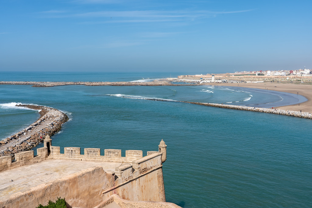 View from Kasbah of the Udayas in Rabat