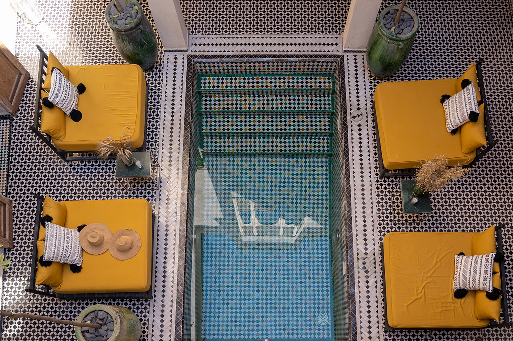 The pool at Riad BE The Essence