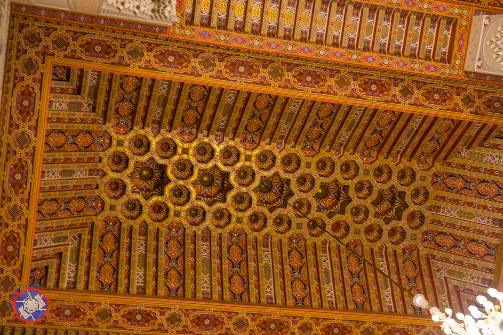 The Carved and Decorated Ceiling of the Hassan II Mosque in Casablanca  (©simon@myeclecticimages.com)