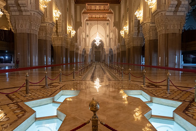 Inside Hassan II Mosque in Casablanca