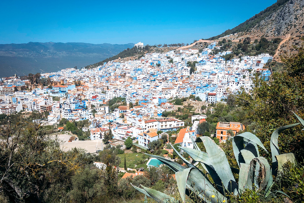 Chefchaouen Blue City Viewpoint  Mysterious Chefchaouen: The Blue Pearl Of Morocco chefchaouen city viewpoint XL