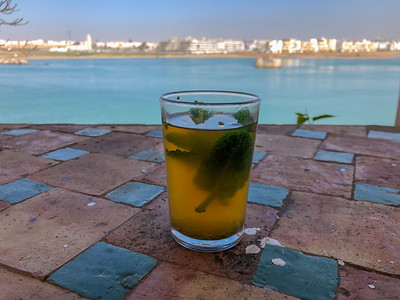 Mint tea in Rabat, Morocco