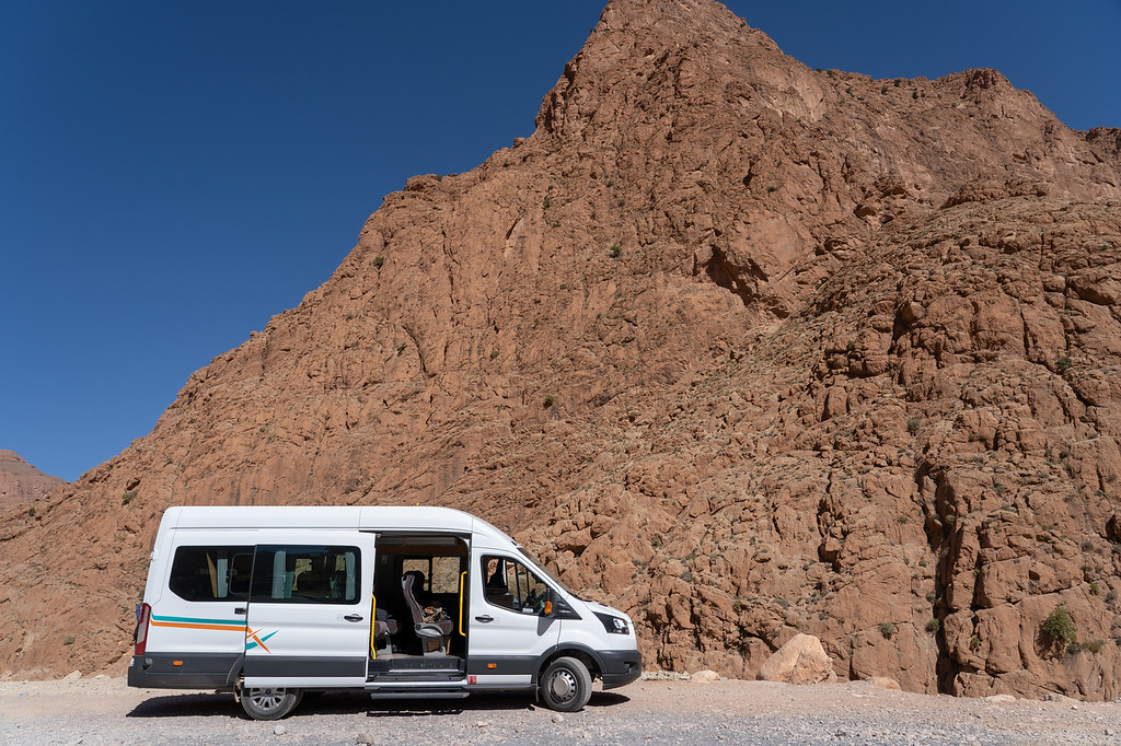 Private van in Morocco