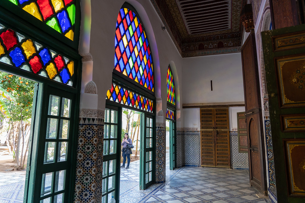 Stained glass at Bahia Palace