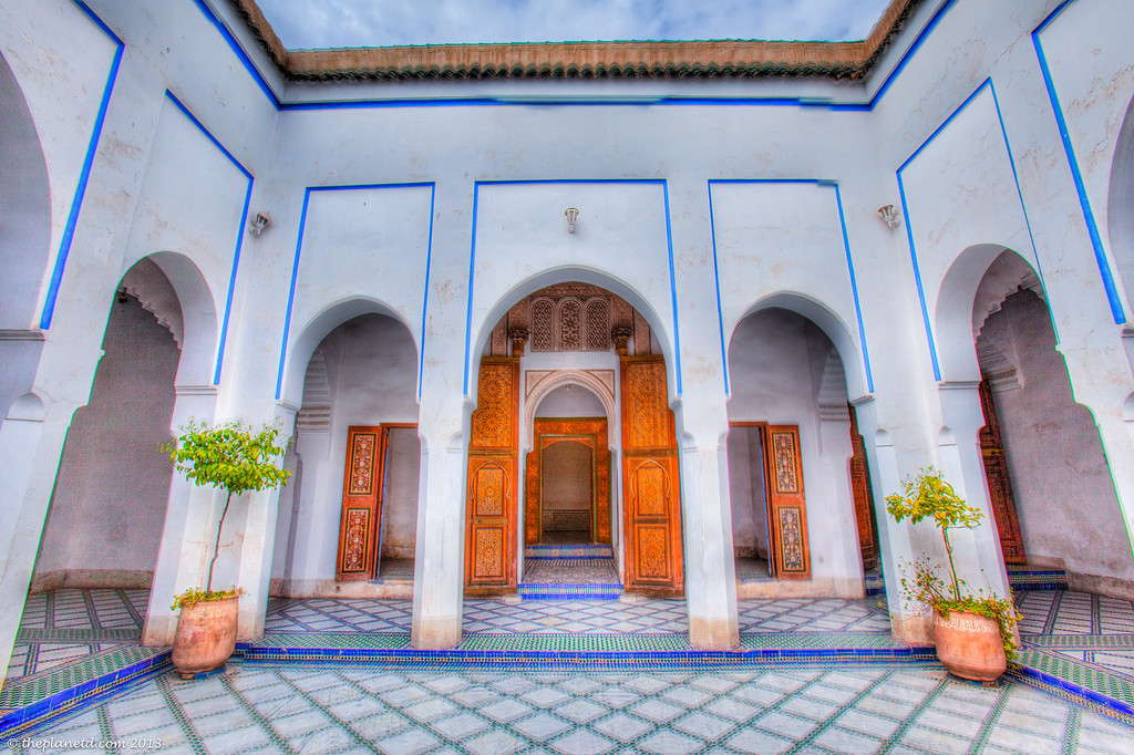 The beautiful Bahia Palace in the heart of Marrakech