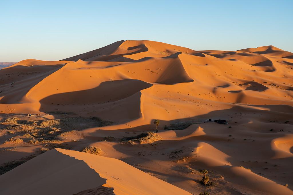 Erg Chebbi dunes at sunset