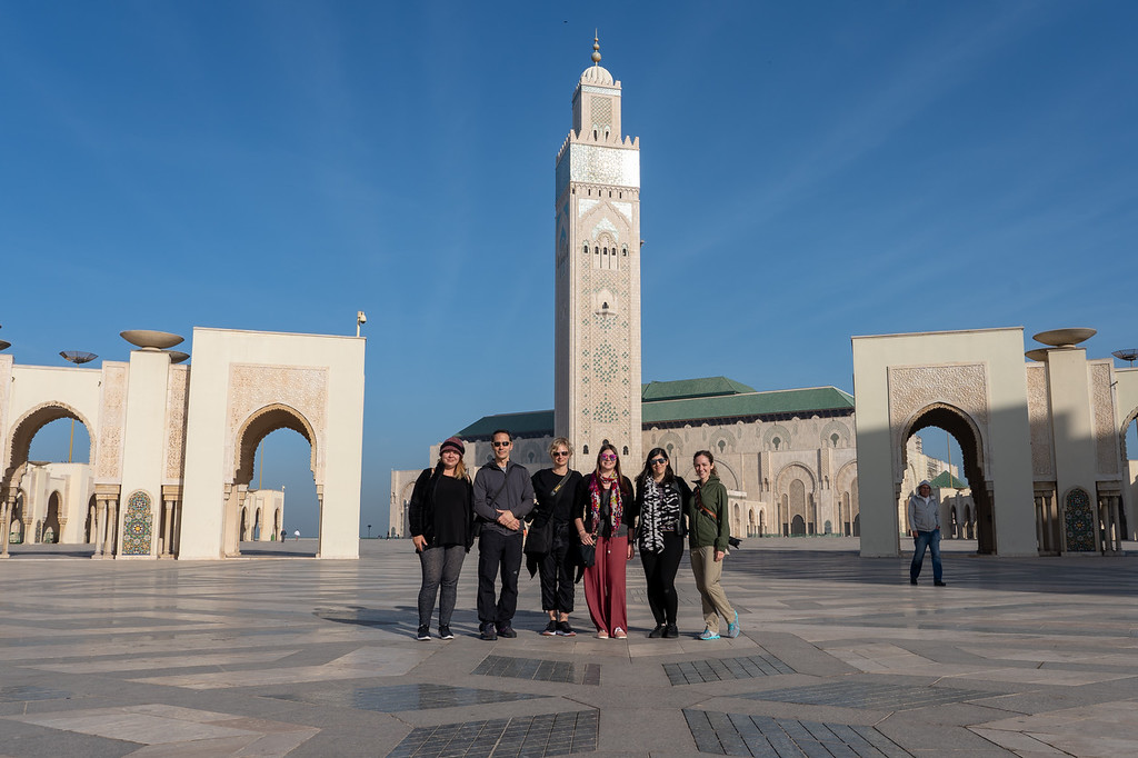 Intrepid group at Hassan II Mosque in Casablanca
